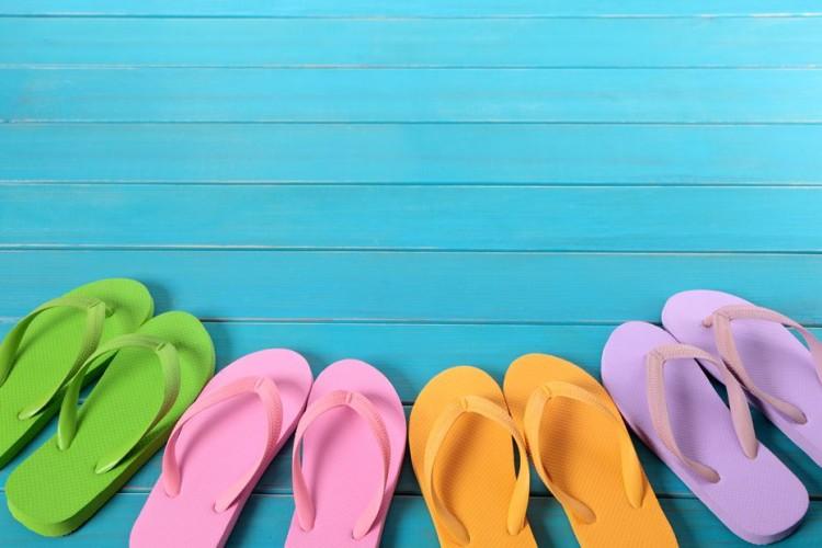 chinelos de verão
