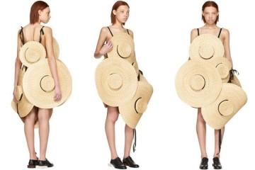 Vestido feito com chapéus de palha custa €2495