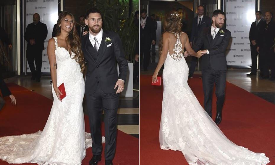 881b2aab59b4e Divulgados pormenores do vestido da (agora) Sra. Messi   Mood Magazine