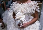 Concurso de Vestidos de Noiva em Papel Higiénico. Fotos: Reuters