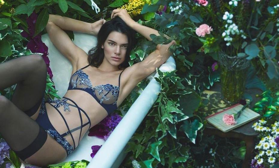 Nova campanha para a La Perla. Foto: Facebook Kendall Jenner