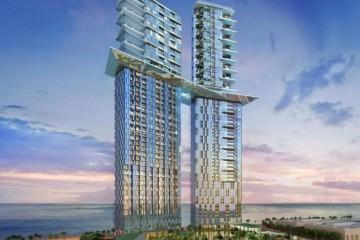 A piscina a 170 metros de altura vai unir as duas torres.
