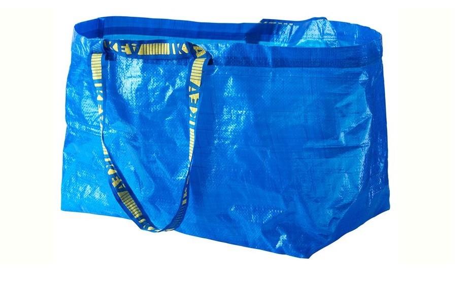 O saco da IKEA. O original que tem inspirado as versões modernas.