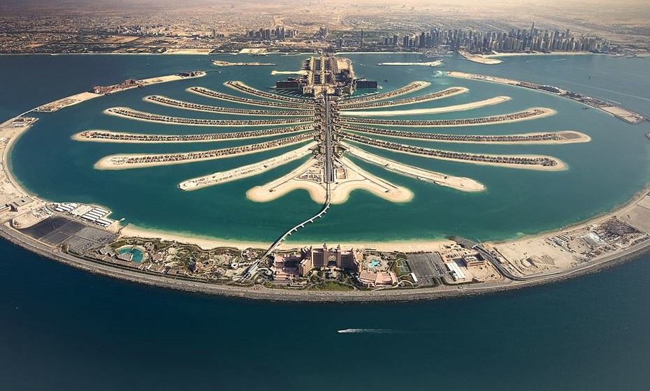 Palm Islands fica no Dubai, Emiratos Árabes Uidos.