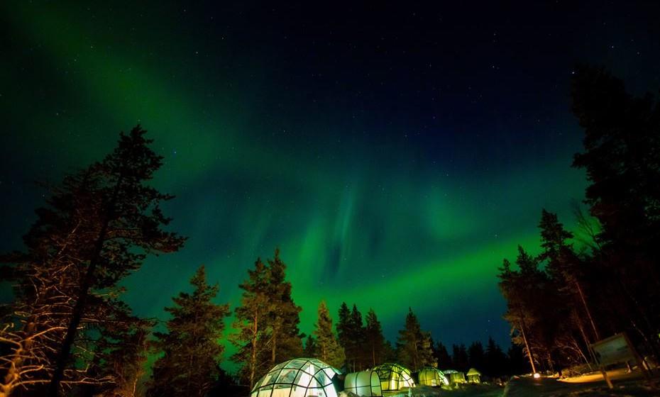 Durma sob as luzes do Norte e deixe-se fascinar pela aurora boreal, um fenómeno ótico possível de observar nas regiões polares. São muitos os fatores em jogo quando se trata de ver este fenómeno, mas pode tentar a sua sorte numa excursão à Lapônia finlandesa. A área do Ártico é uma das melhores do planeta para visualizar as luzes.