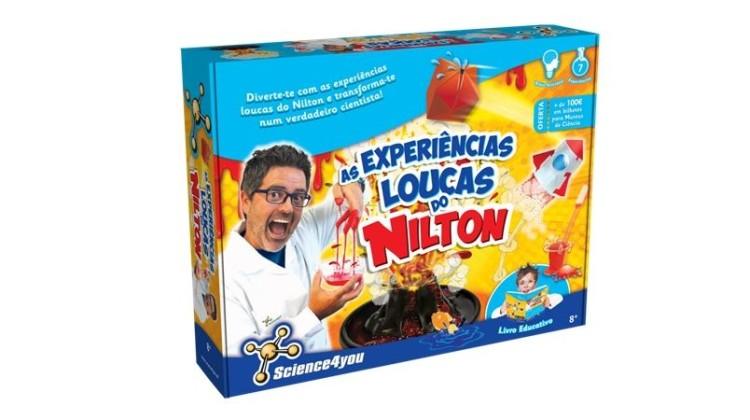 Nilton junta-se à Science4you e lança kit com sete experiências 'loucas'