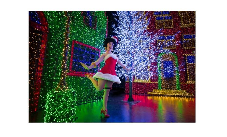 A maior exibição com lâmpadas indoor aconteceu em Singapura, em 2016. A quantidade de lâmpadas utilizadas foi de 824,961, em várias formas e matizes. O feito integrou a atrações de Natal dos Universal Studios de Singapura.