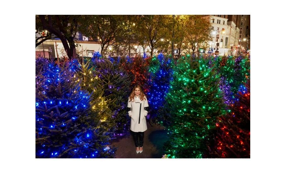 O maior espaço com árvores de Natal iluminadas foi registado na Manhattan's Herald's Square, (EUA), com 559 árvores decoradas.
