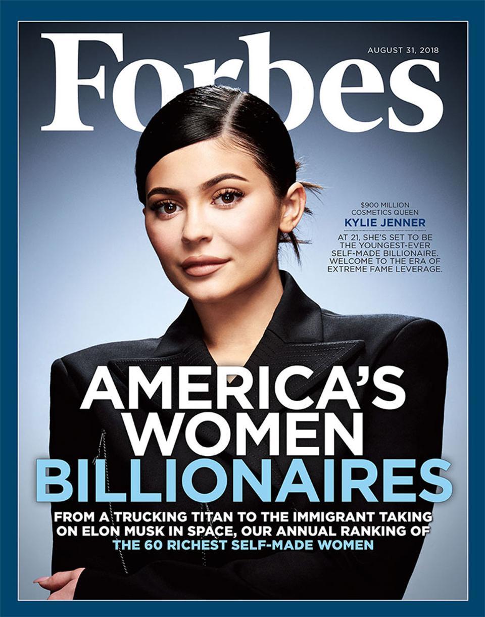 Kylie Jenner: a mais jovem multimilionária a entrar na lista da Forbes