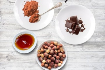 Bombons vegan de chocolate e avelã