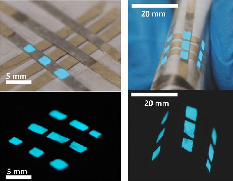 Fibras têxteis com pixels luminosos incorporados (2)