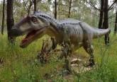 Dinossauros do Dino Parque em exposição no Amoreiras