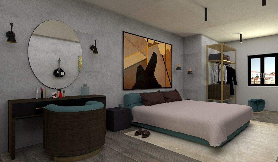 2. Quarto - cama king size para mais conforto e toucador para arrumação e exposição de cosméticos