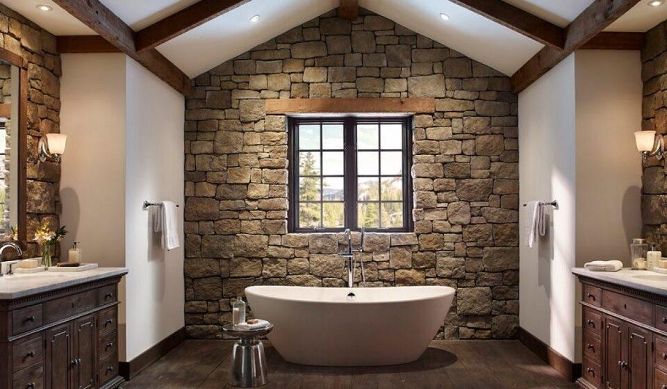 5. Instalação Sanitária Eco-natural - pedra, madeira, curvas, tosco