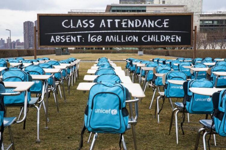 UNICEF: 168 milhões de crianças sem escola há um ano