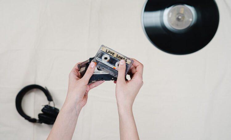 cassete e disco