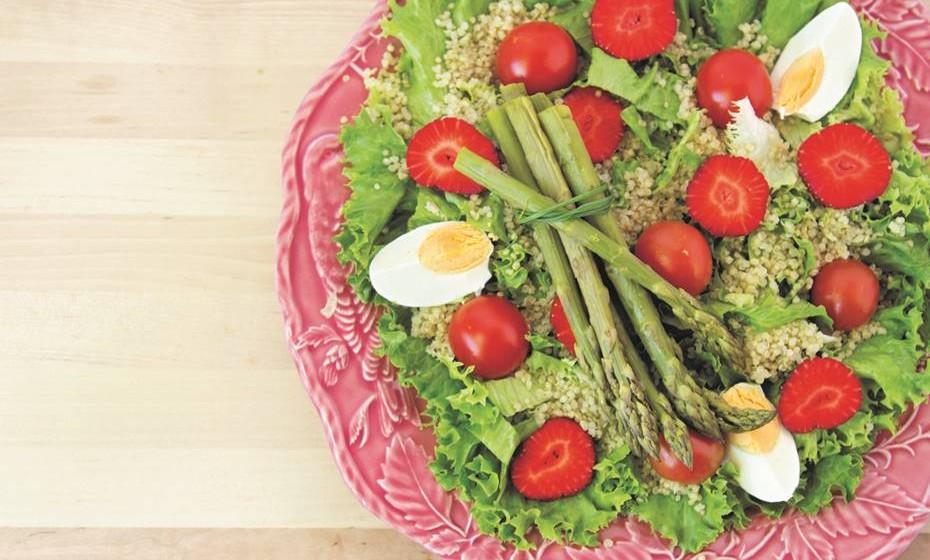 9 - Salada de espargos e quinoa