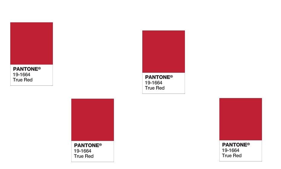 2002: O true red, ou vermelho verdadeiro, foi a cor escolhida para esse ano.