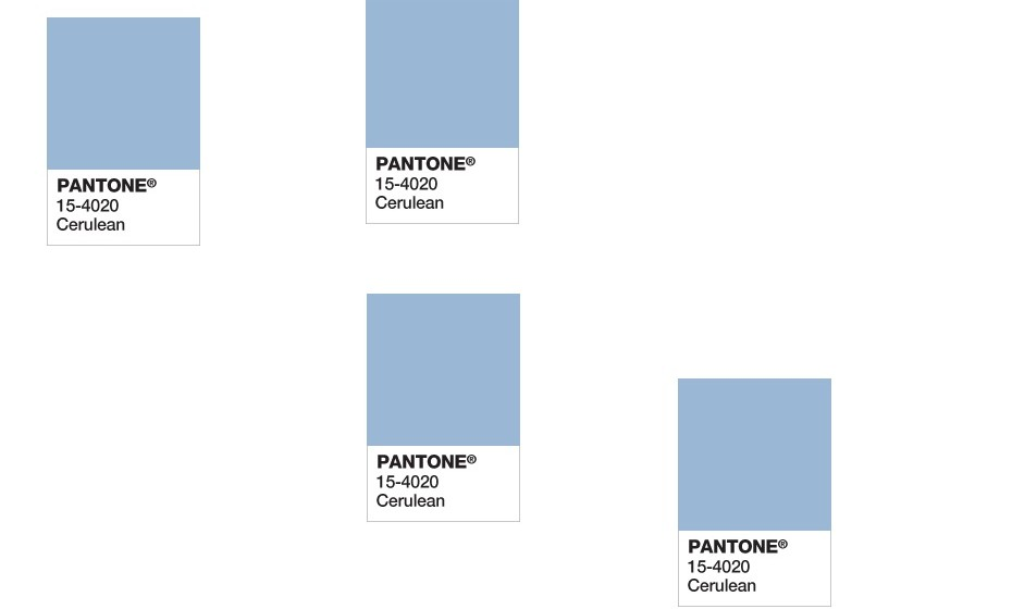 2000: A primeira cor do ano da Pantone foi revelada no ano 2000. E a cor escolhida foi o cerúleo, ou azul celeste.