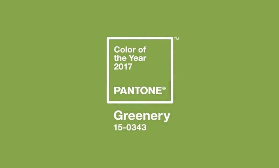 2017:  O 'greenery' Pantone 15-0343 é um verde que simboliza o respeito pelo meio ambiente que é necessário divulgar pelo mundo.