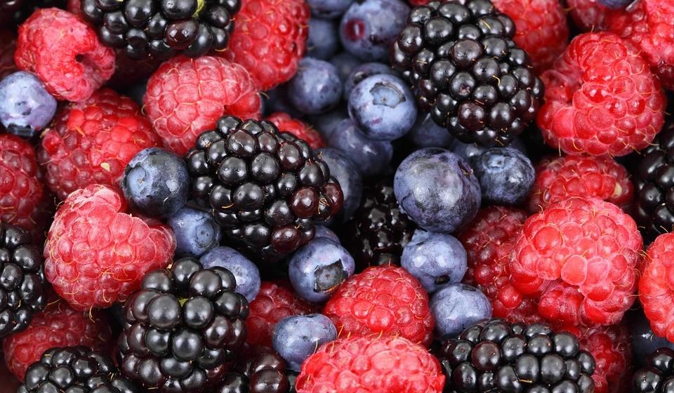 Bioflavonóides: frutas cítricas, uvas vermelhas, amoras, morango, framboesa, mirtilos, entre outras frutas vermelhas.