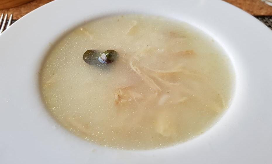 Restaurante Fiado - canja de pato do rio.