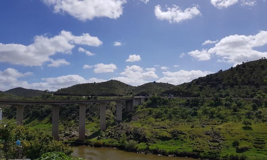 Rio Guadiana, em Mértola.