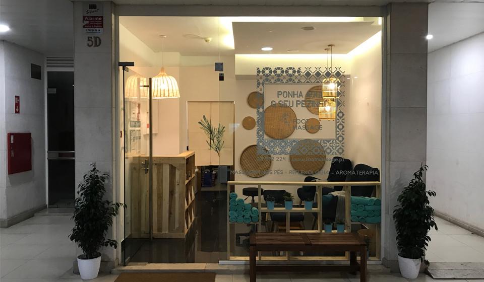 A loja de Lisboa, inaugurada em março deste ano, fica por trás da Avenida de Roma.