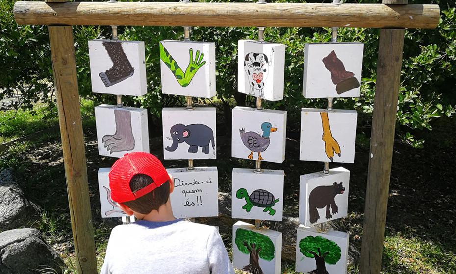 Jogos de educação para os mais jovens são uma cosntante ao longo do parque