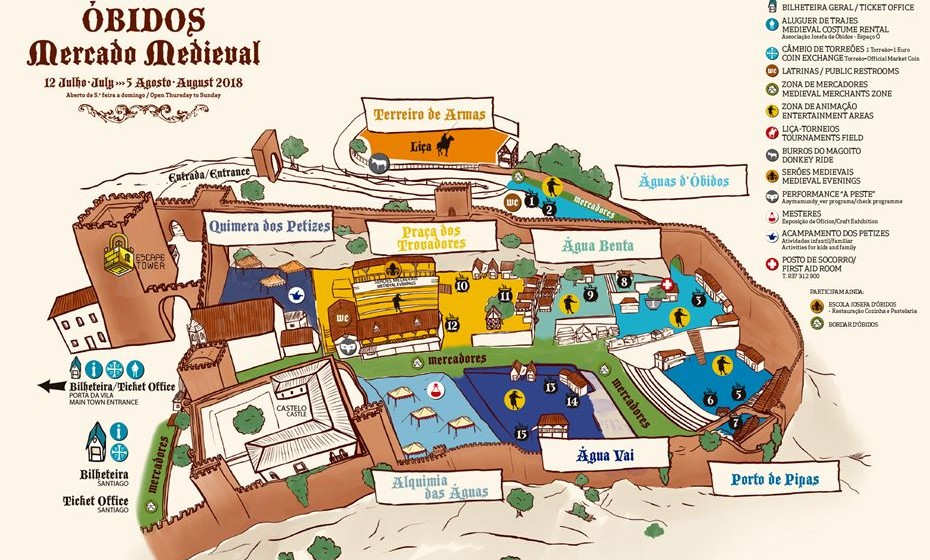 Mapa do Mercado Medieval de Óbidos