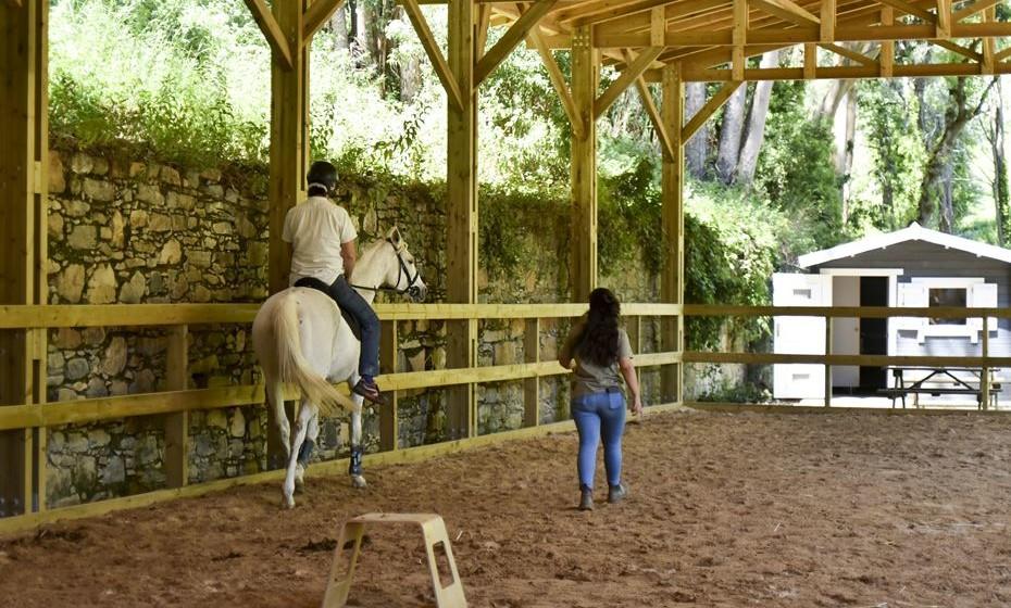 Na quinta, é possível fazer passeios a cavalo e de burro.
