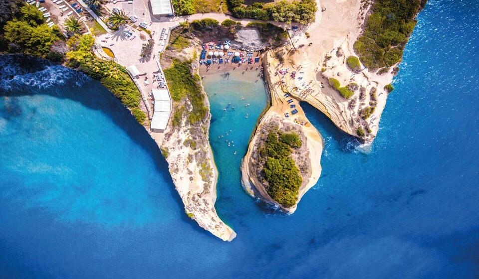 Sidari (Grécia) - Na pequena cidade costeira de Sidari poderá encontrar o Canal d'Amour, uma pequena praia bastante acolhedora.