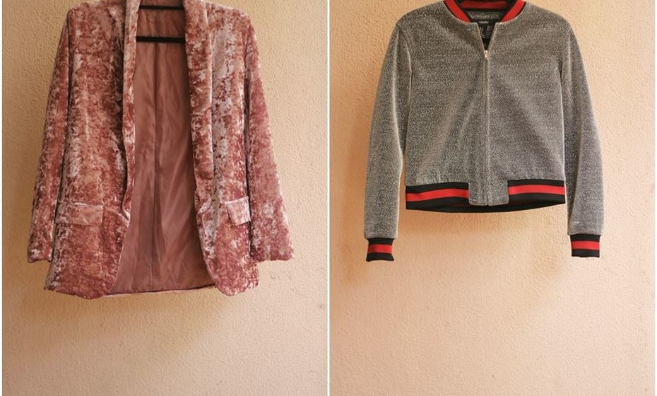 Blaser de veludo de Alice Trewinnard e blusão de Mafalda Melo