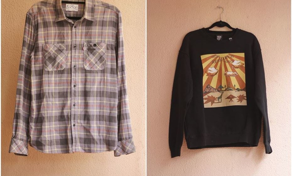 Camisa de Pedro Carvalho e sweat de Richie Campbell
