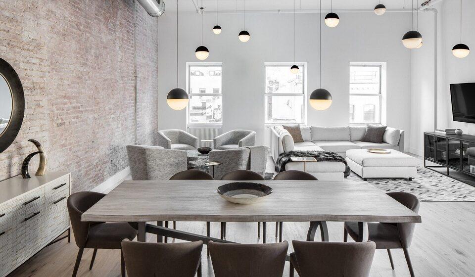 Casamento entre o mobiliário Retro Chique e a estrutura Industrial versão Light