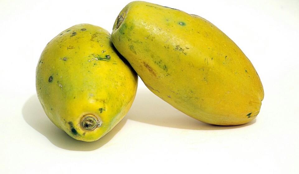 Papaia - A papaia contém uma enzima digestiva chamada papaína. Esta enzima ajuda a digerir as proteínas.