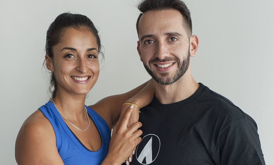 Os personal trainers Sheila Fagundes e Bruno Andrade, Ginásios Fitness Hut /
