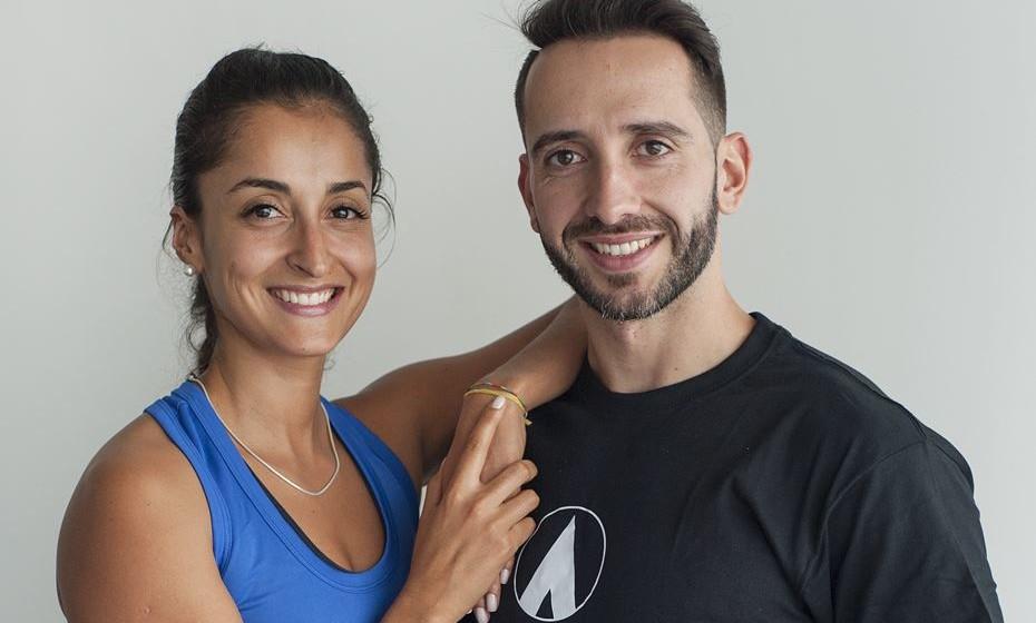 Os personal trainers Sheila Fagundes e Bruno Andrade, Ginásios Fitness Hut / Fotografia: Liete Couto Quintal