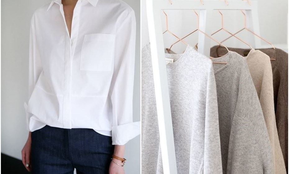 Camisa branca e sweater