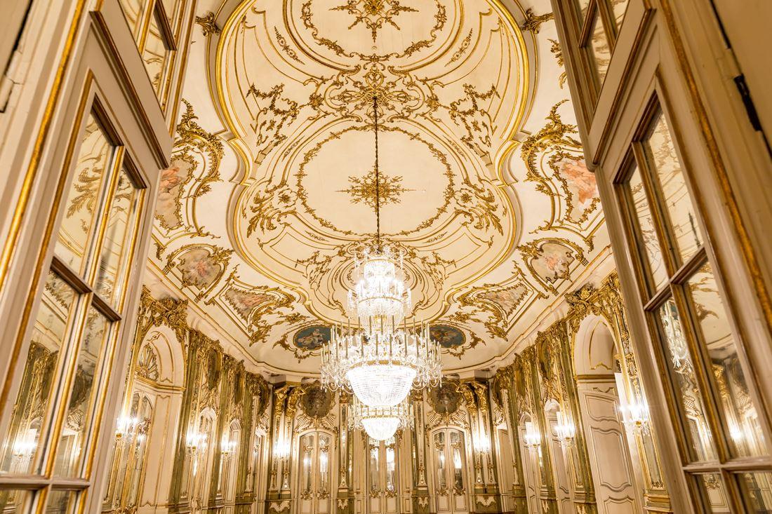Foto: Sala do Trono no Palácio Nacional de Queluz. Créditos: PSML/LuisDuarte