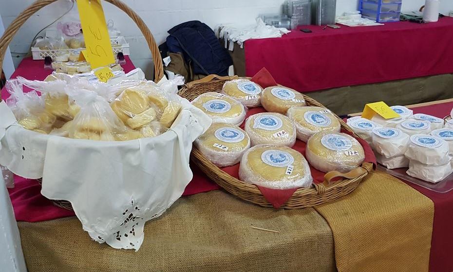 Exposição de queijos
