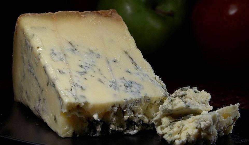 Queijo azul – Este queijo é feito de leite de vaca, cabra ou ovelha que foi curado com culturas do fungo Penicillium.