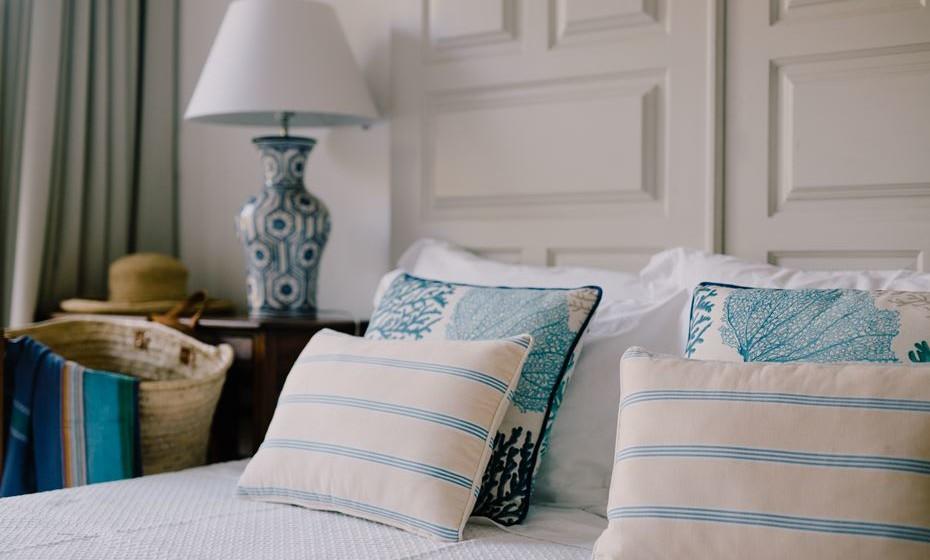 Ao todo, esta unidade hoteleira localizada perto de Mafra oferece 29 quartos, duas casas familiares e um edifício único.