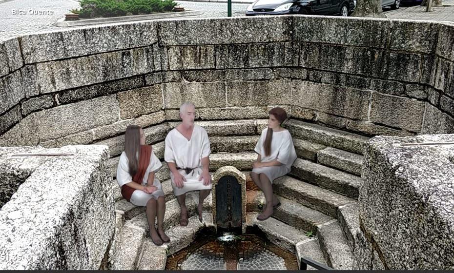 Na Bica Quente, três personagens romanas contam a história das termas  em Vizela.