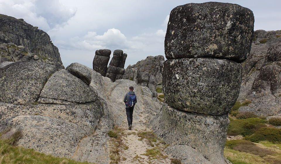 Colunas graníticas na Serra da Estrela