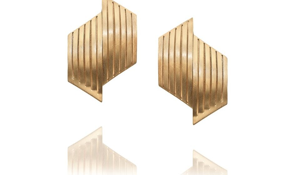 Portuguese jewellery x MAAT_Mater_M_Brincos em prata dourada_PVP 180€