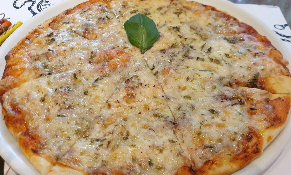 Pizza do menu infantil