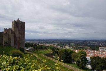 Palmela vista do seu castelo.