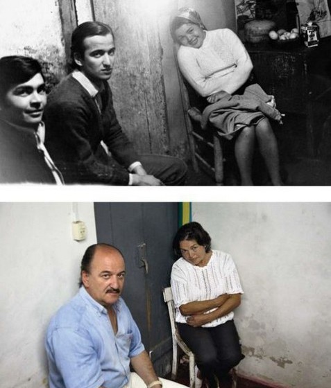 A primeira foto é de 1968 e a segunda de 2006.
