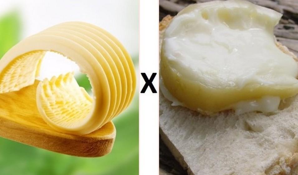 Manteiga com sal X  Queijo de Azeitão